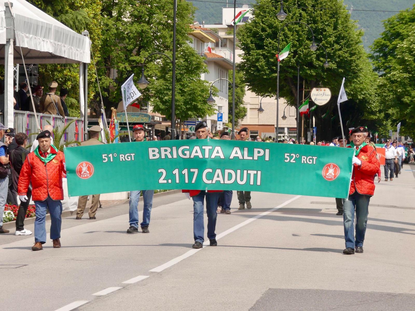 """La Brigata """"Alpi"""" a Vittorio Veneto, 27 maggio 2018."""