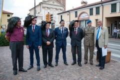 Personalità invitate con il rappresentante Istituzionale Maggiore Pietro De Franceschi