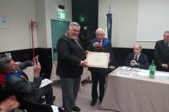 Consegna di una targa al Cavalier Attilio Gomitolo in segno di stima per il lavoro svolto come VicePresidente Vicario