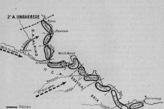 Schieramento dell'8^ Armata all'inizio della battaglia sul fronte del Don, 10 dicembre 1942.